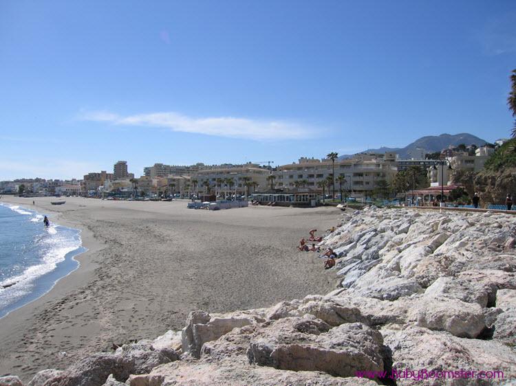 Costa Del Sol - Torremolinos in Spain - Beach.