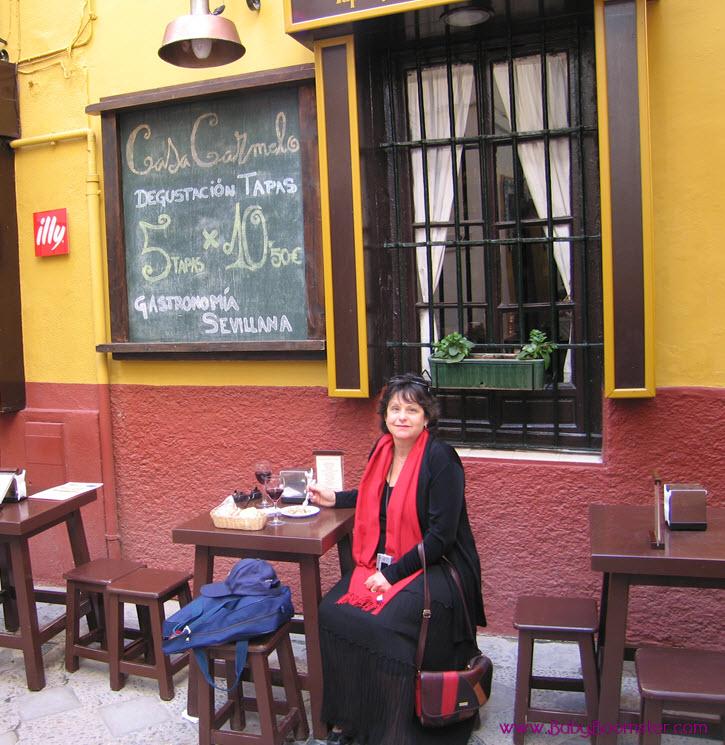 Eating Tapas in Seville Spain