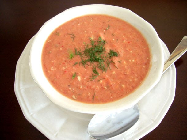 Baby Boomer Recipes   Cold Yogurt and Vegetable Soup
