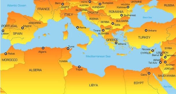 The Mediterranean Diet Regions