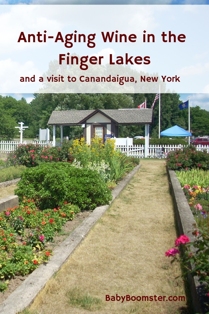 The Finger Lakes in upper state New York are known for their anti-aging wine. It contains a high level of Resveratrol. A visit to Canandaigua to check it out.