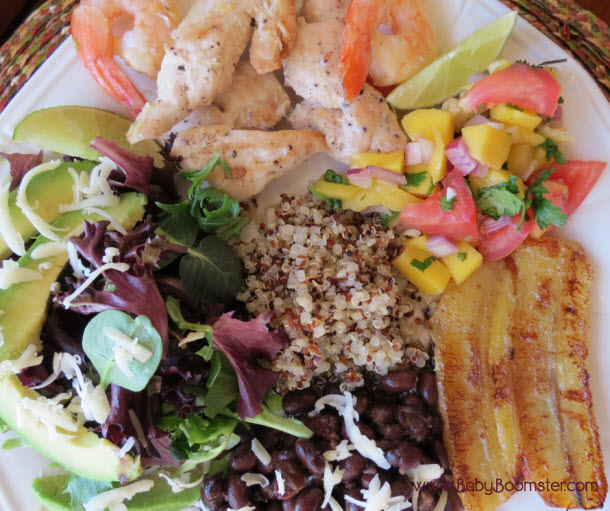 Costa Rican Chicken Shrimp and Mango Salsa