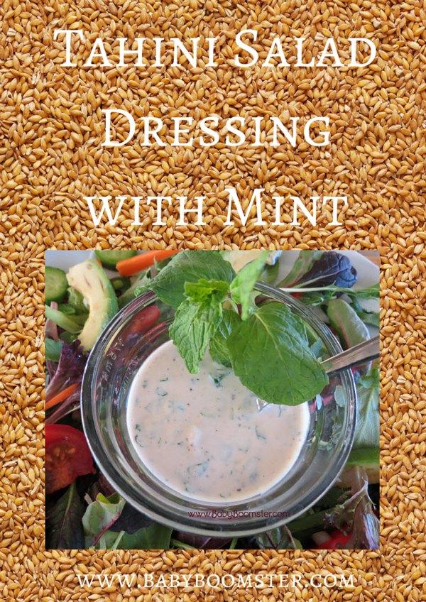 Baby Boomer Recipes   Salad Dressing   Tahini Salad Dressing