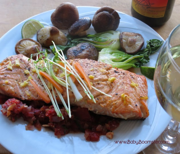 Wild Salmon with Orange-Lime Sauce