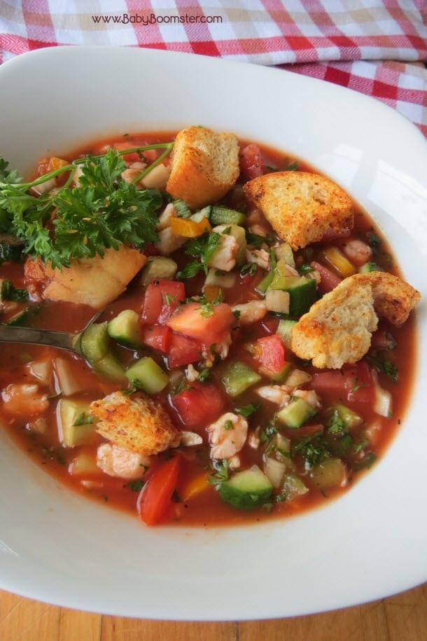 Baby Boomer Recipes   Soup   Crab Gazpacho