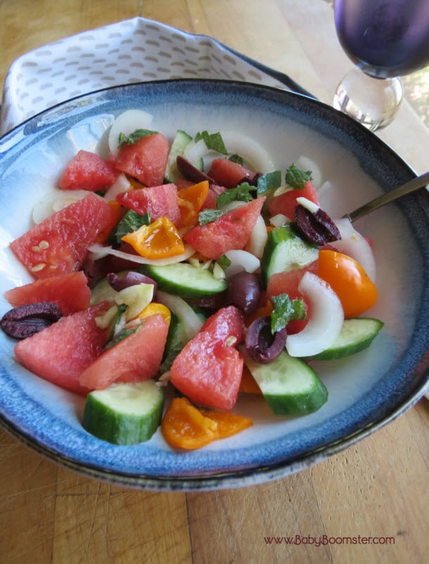 Baby Boomer Recipes   Watermelon Vegetable Salad