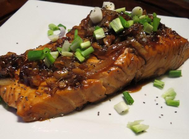 Whiskey Glazed Salmon