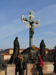 Crucifix at the Charles Bridge - Prague