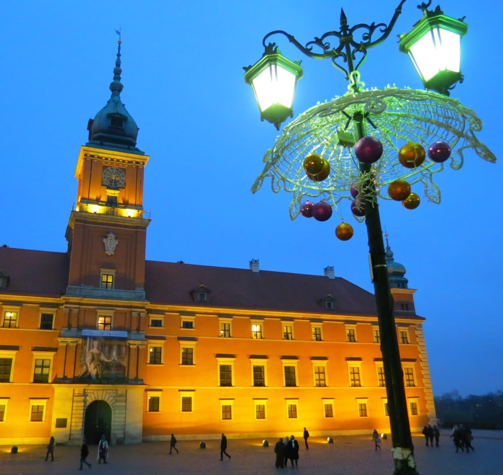 Palace in Warsaw, Poland - winter travel for the holidays