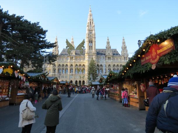 Christmas Market at the Rathausplatz in Vienna