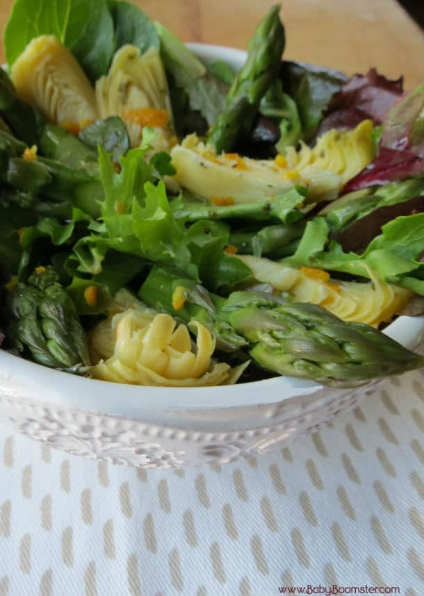 Baby Boomer Recipes | vegetarian | Asparagus Artichoke Salad