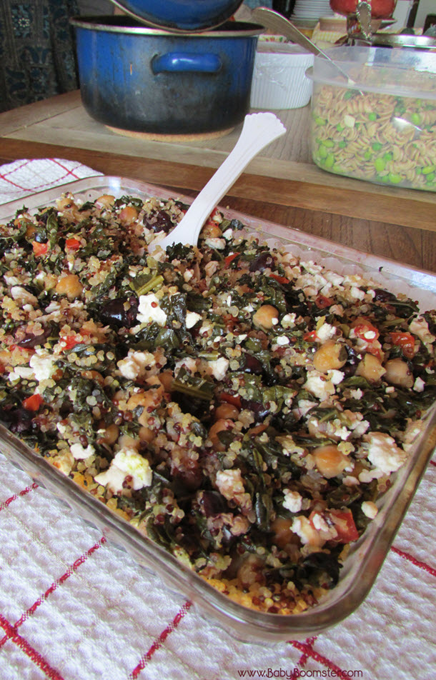 Baby Boomer Recipes | Vegetarian | Kale and Quinoa Casserole with Chickpeas