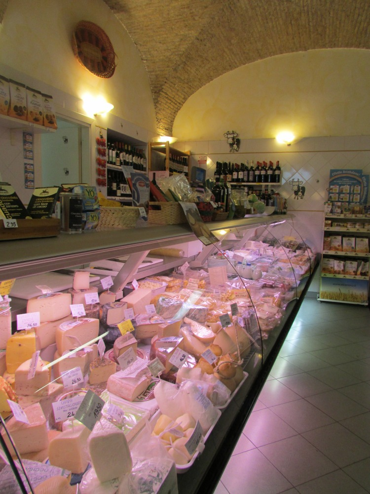 Baby Boomer Travel   Italy   Rome Cheese Shop