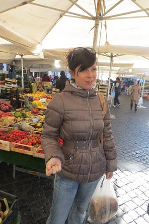 Julia in Italian Food Market - Walks Of Italy