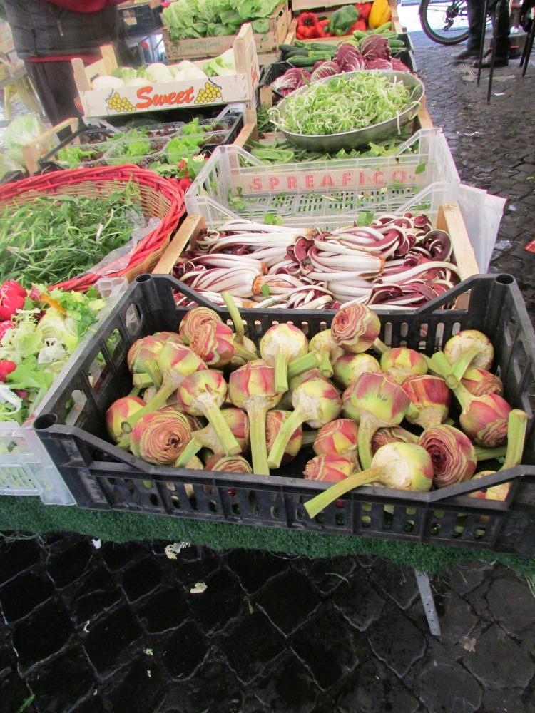 Baby Boomer Travel   Italy   Vegetables at Campo di Fiori Market Rome