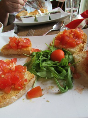 Brushetta with Tuscan Bread Montepulciano Italy