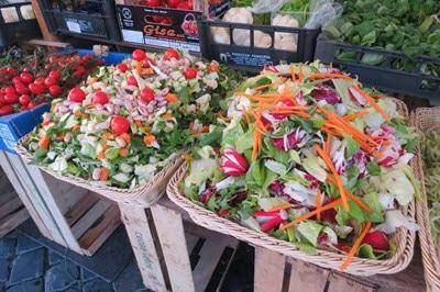 Lettuces at the Campo de' Fiori open market in Rome