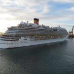 Queen Elizabeth at port in Barcelona