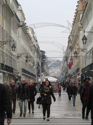 Downtown Lisbon Portugal