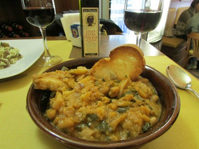 Tuscan Soup in Siena Italy