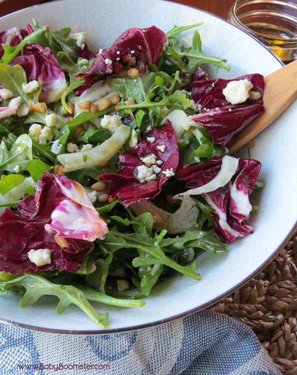 Fennel and Avocado Salad Italian Inspired Radicchio and Arugula Salad ...