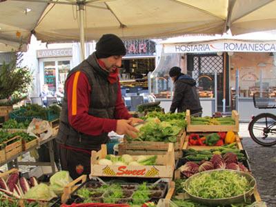 Salad Greens at Rome open market