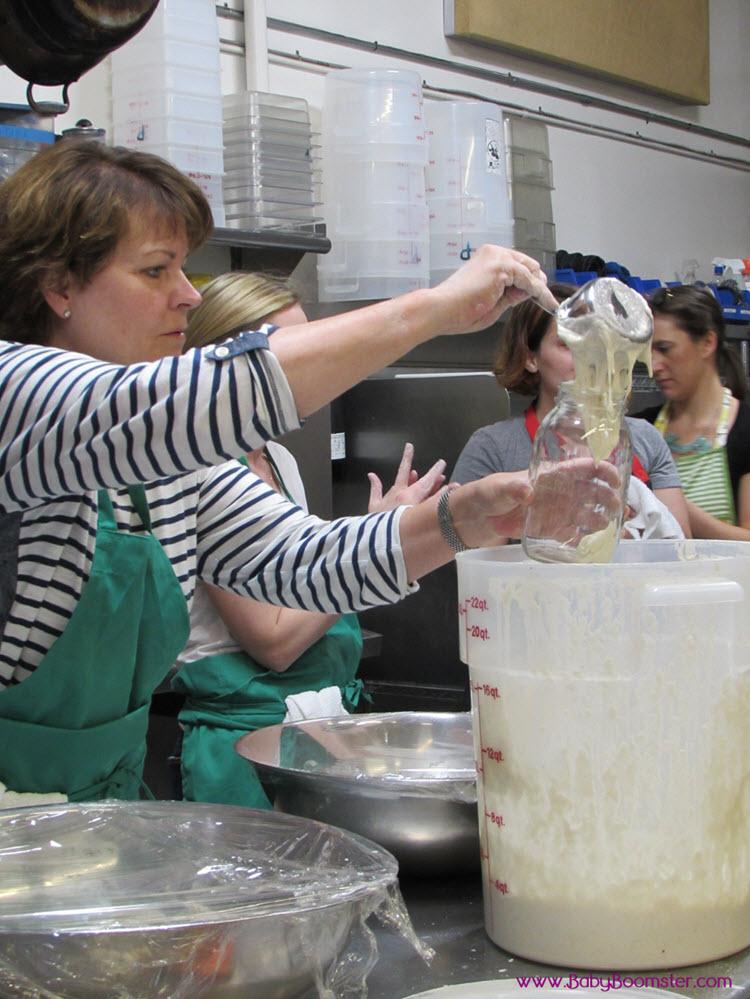 Bringing home starter culture for breadmaking