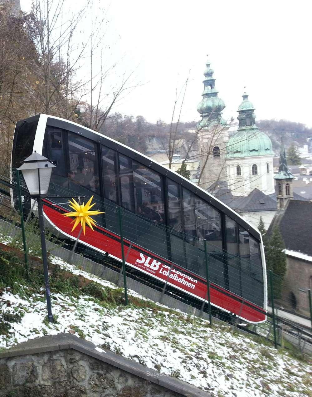 Baby Boomer Travel   Austria   Salzburg - Funicular
