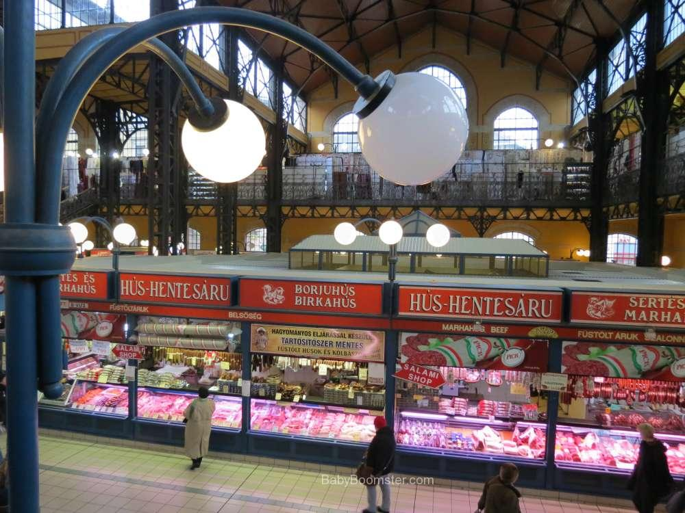 Baby Boomer Travel   Hungary   Great Market Hall Budapest - Meat and Sausages