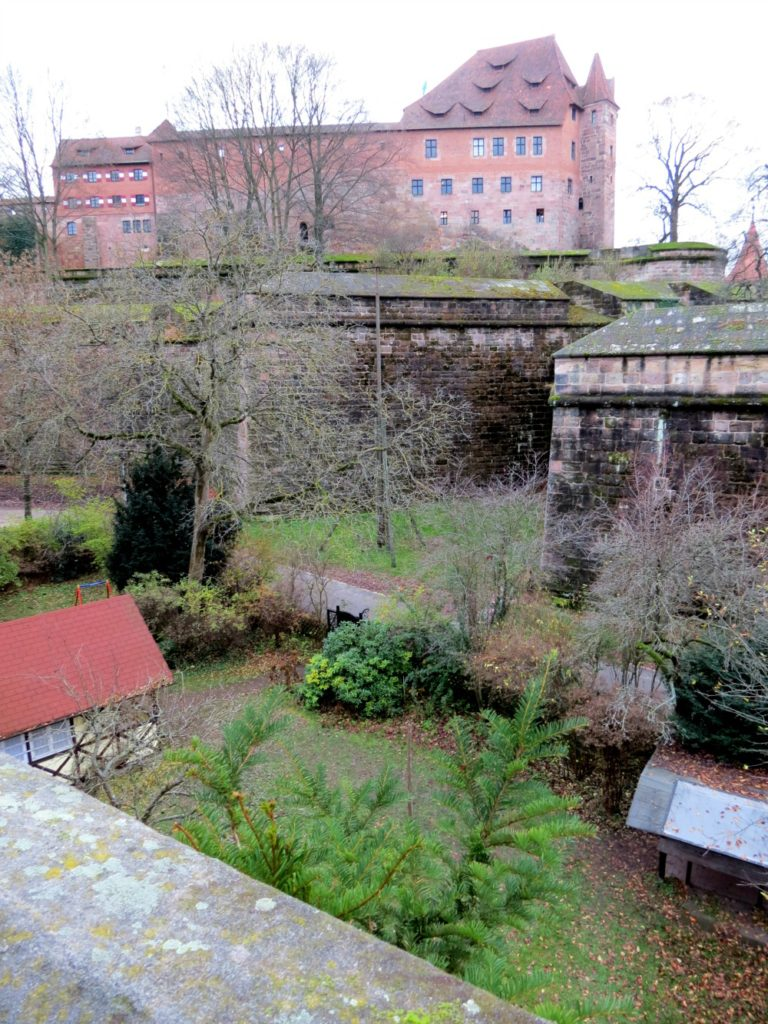 View of the old wall in Nürnberg