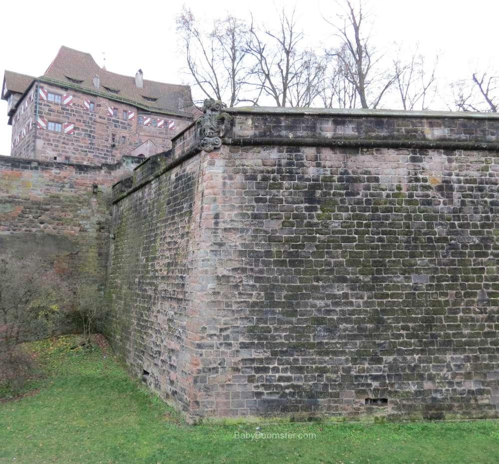 The outside of the old city wall in Nürnberg
