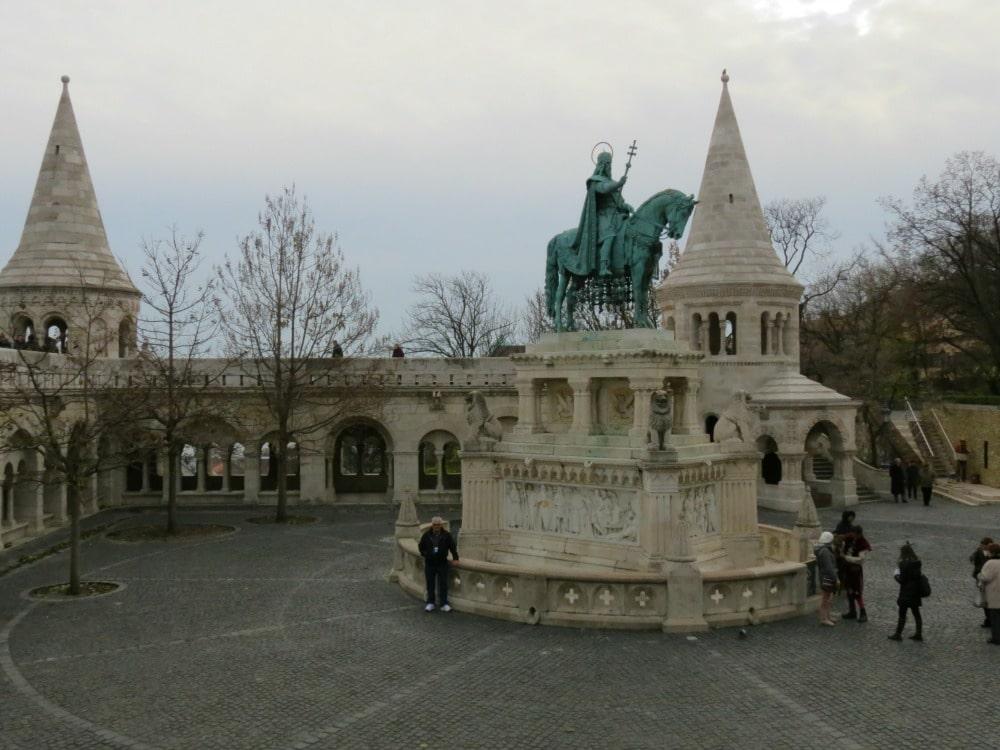 Boomer Travel   Budapest   Statue of Saint Istvan Fishermans Bastion Old Town Buda