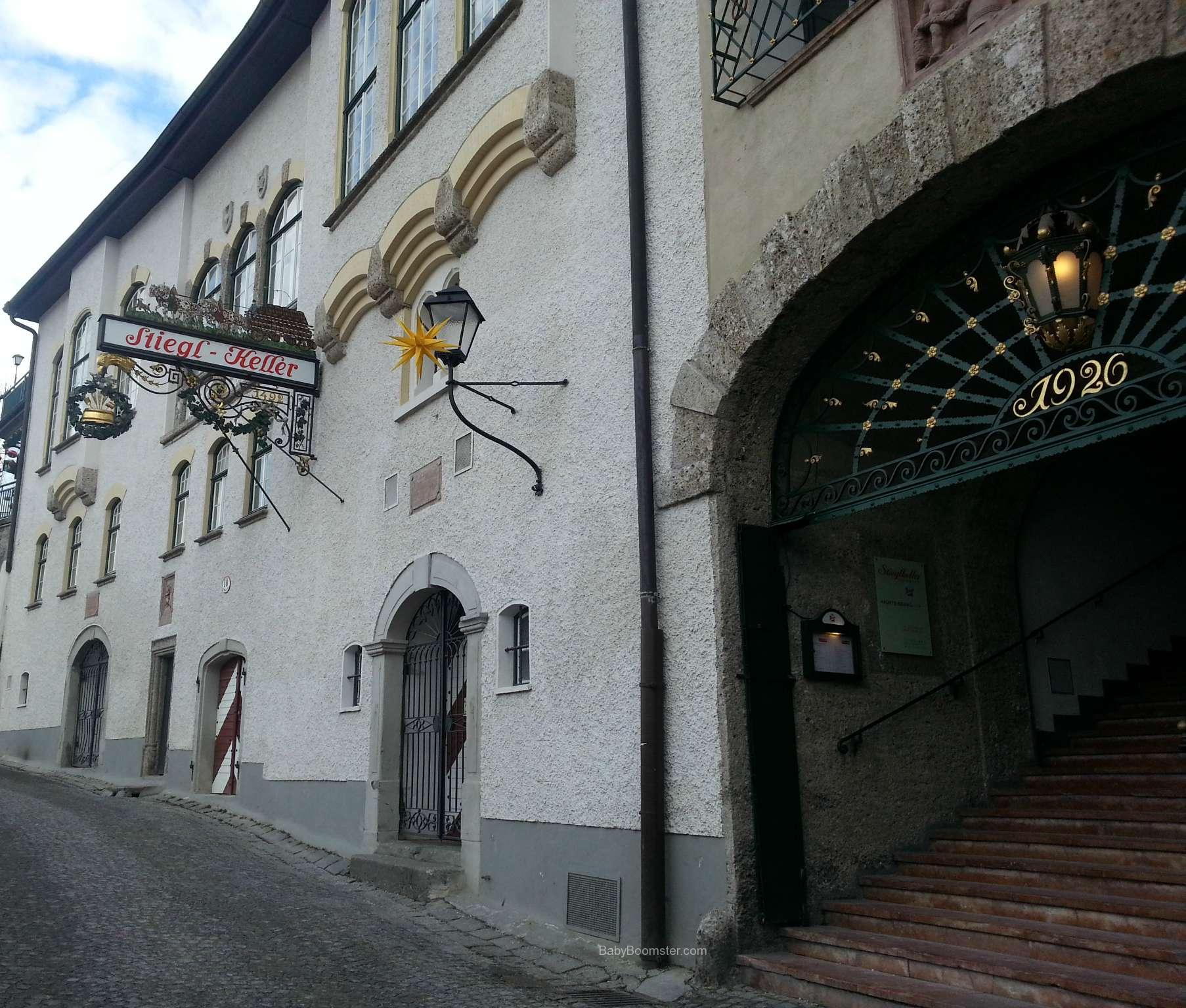 Baby Boomer Travel   Austria   Salzburg - Stiegl Keller