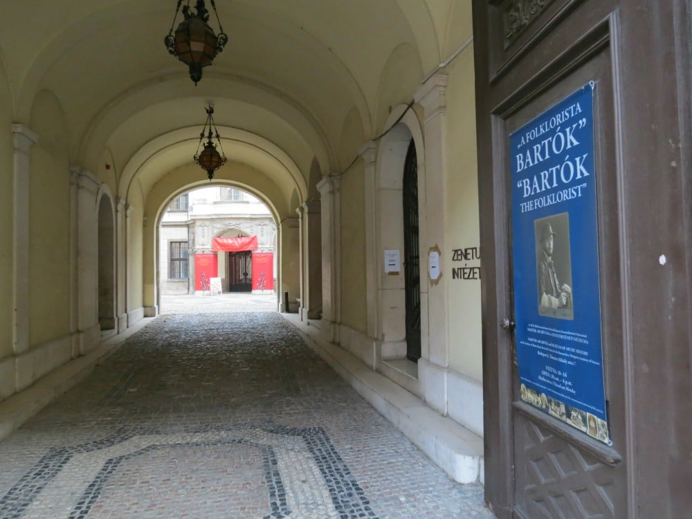 Boomer Travel   Budapest   Walkway in old town Buda - Bartok poster