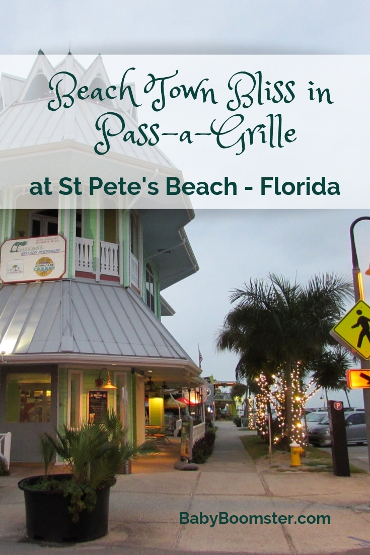 Pass-a-Grille at St. Pete's Beach in Florida is a relaxing and quaint beachtown with plenty of kitche and all sorts of birds. The grouper is amazing and it's a wonderful place to hang out and chill.