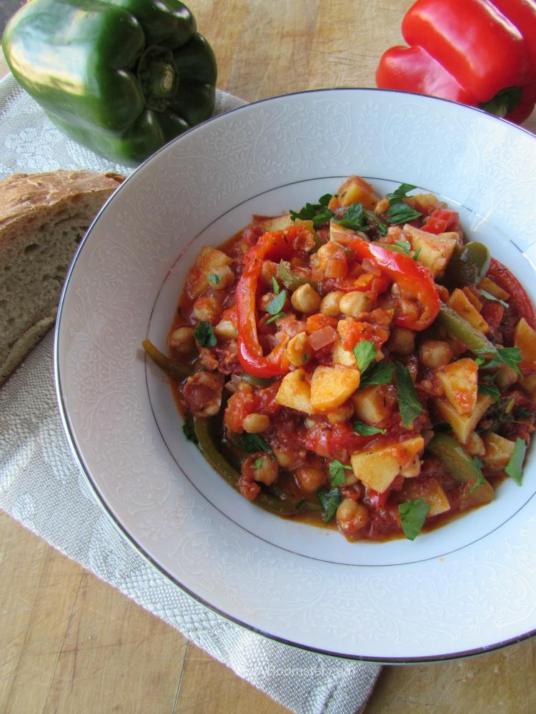 Baby Boomer Recipes   Tuscan Garbanzo Bell Pepper Soup