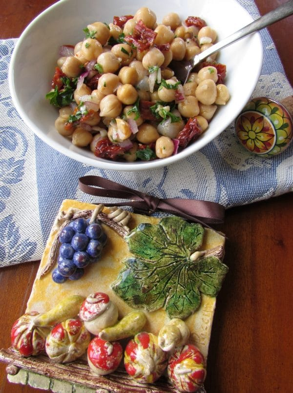 Baby Boomer Recipes | Vegan | Garbanzo Bean and Sun Dried Tomato Salad