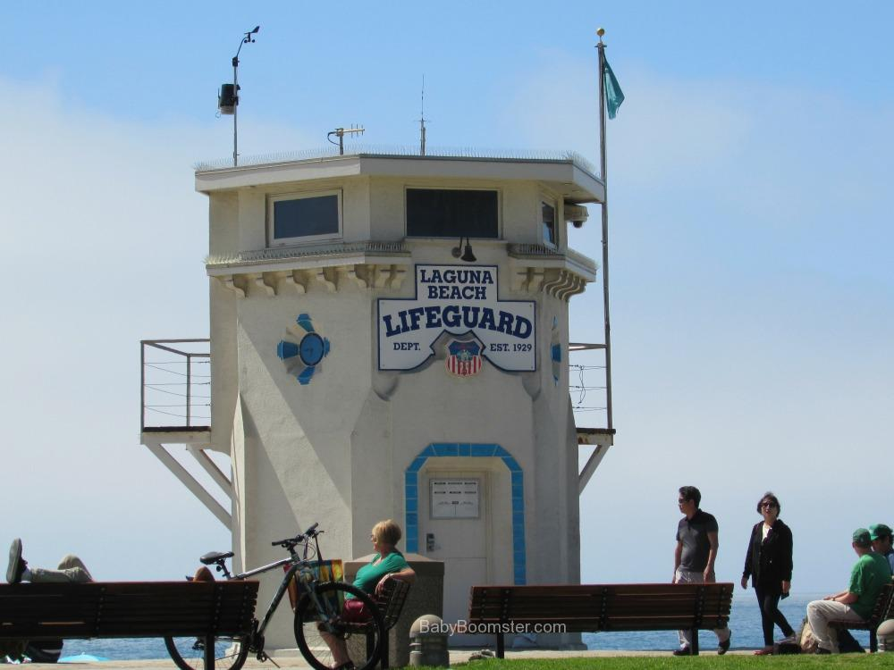 The Laguna Beach lifeguard station was built in 1929 and is one of the art colony's landmarks.