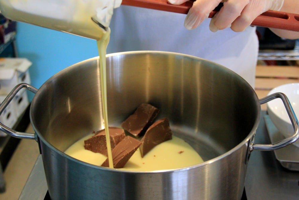 Cocoa in batter