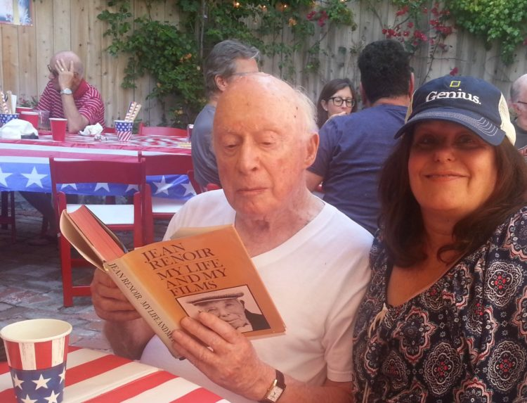 Norman Lloyd at 103 on 4th of July - Still telling stories and still a party animal. I got to sit with him.