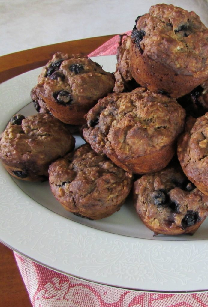 Maca Muffins with Blueberries