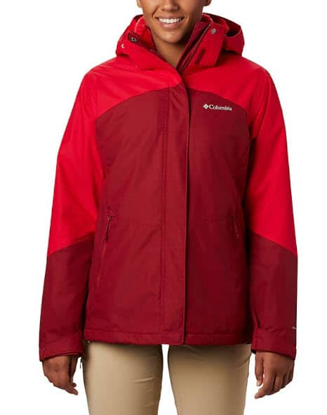 This Women's Bugaboo™ II Fleece Interchange Jacket by Columbia has separate layers that you can take on and off depending on how cold it is.