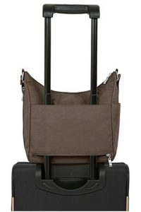 Baby Boomer Travel | Travel Gear | Baggallini Bag on luggage