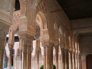 Baby Boomer Travel | Granada, Spain | Alhambra Patio of Lions columns