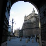 Baby Boomer Travel   Seville, Spain   View of Cathedral through door