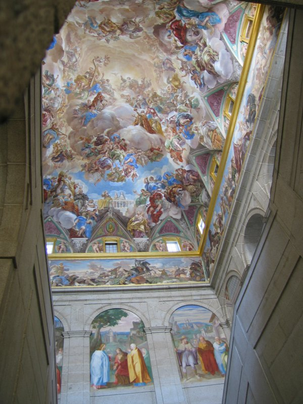 Baby Boomer Travel | Spain | Madrid - El Escorial ceiling