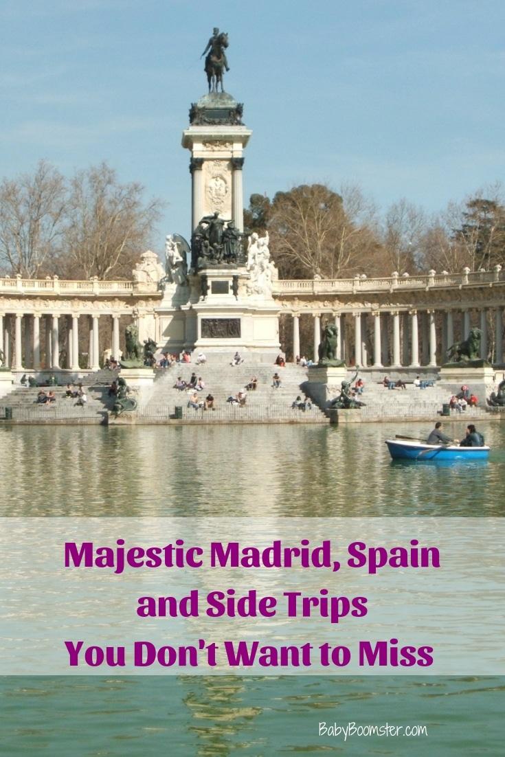 El Retiro Park Lake in Madrid near the Prada Museum.