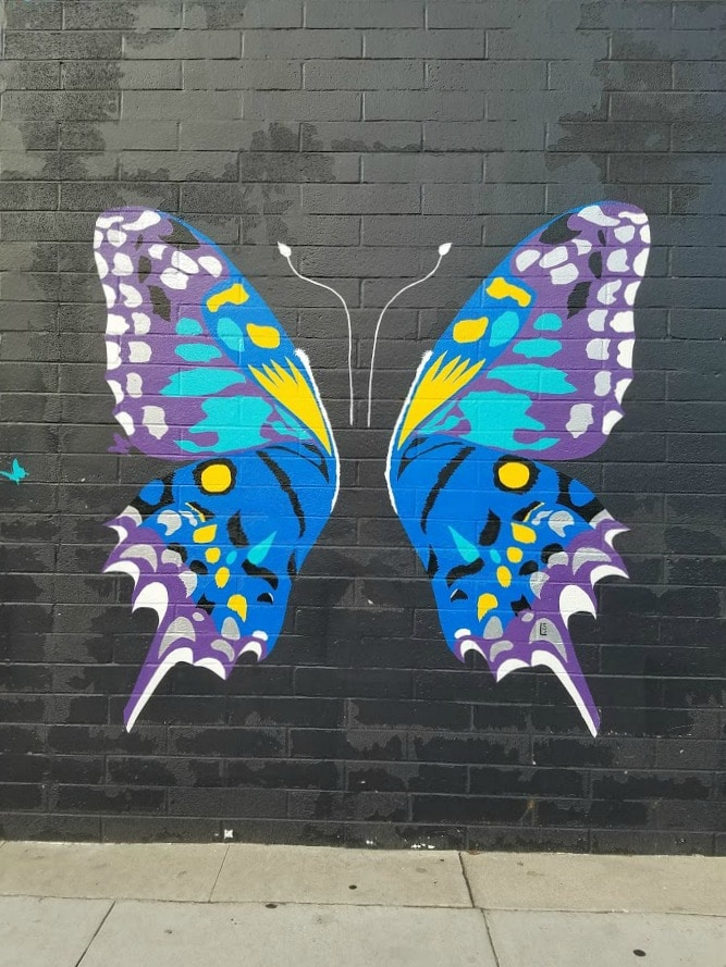 Baby Boomer Travel | Street Art | Burbank | Butterfly - Magnolia Blvd