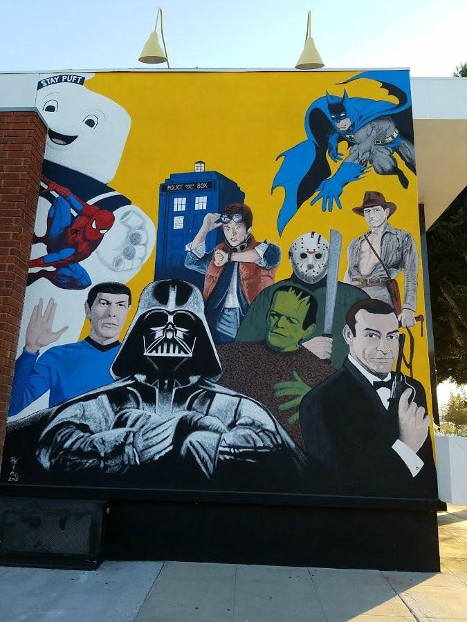 Baby Boomer Travel | Street Art | Burbank | Star Trek and Star Wars