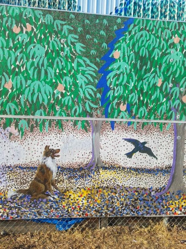 Baby Boomer Travel | Street Art | Dog and Bird